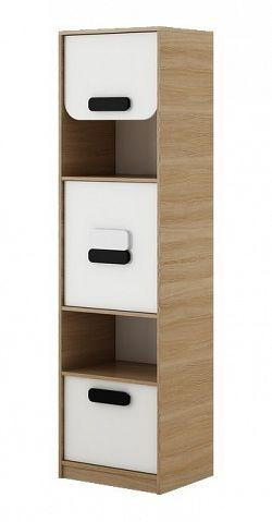 Dětská skříňka v dekoru dub nova v bílé barvě typ G05 KN083