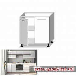 dolní skříňka ENILE bílý vysoký lesk 80 cm