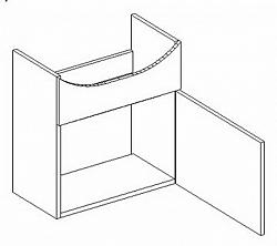 Dolní skříňka pod umyvadlo 51 cm s možností výběru barvy typ DUM KN485
