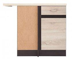 Dolní skříňka rohová 100 cm levá v kombinaci dub sonoma a wenge  W001 DNW/100/82