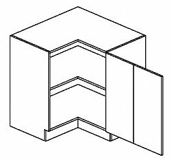 DRPP dolní skříňka rohová SANDY STYLE 80x80 cm pravá