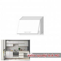 Horní skříňka digestořová ENILE bílý vysoký lesk 60 cm