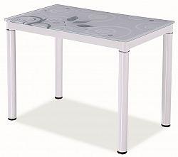 Jídelní stůl 100x60 cm v bílé barvě KN553