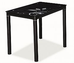 Jídelní stůl 100x60 cm v černé barvě KN553
