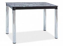 Jídelní stůl 100x60 cm v černé barvě s chromem KN553