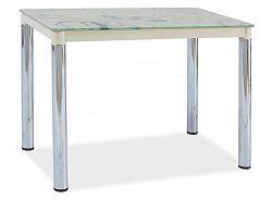 Jídelní stůl 100x60 cm v krémové barvě s chromem KN553