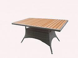 Jídelní stůl 150x90 šedohnědé provedení RIMINI