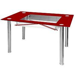 Jídelní stůl skleněný F056 vínový