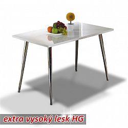 Jídelní stůl v moderním designu bílá ve vysokém lesku PEDRO