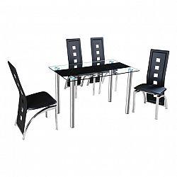 Jídelní stůl ve stylovém skleněném designu černá ESTER