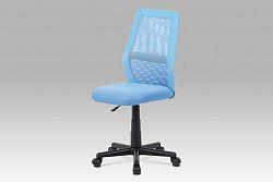 Kancelářská židle modrá v kombinaci látky MESH a ekokůže KA-V101 BLUE  AKCE