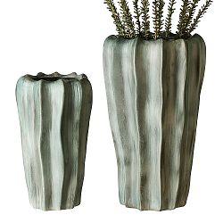 Keramická váza Kampa, 41 cm, zelená