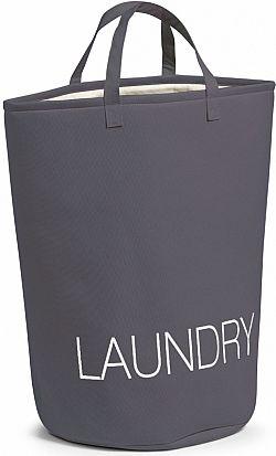 Koš na prádlo LAUNDRY šedý E438