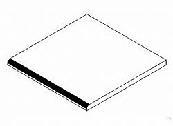 Koupelnová deska 30x30 cm bílý lesk KN485