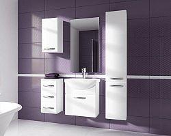 Koupelnová sestava bílý lesk s umyvadlem a deskou KN485