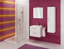 Koupelnová sestava s umyvadlem v bílém lesku 79 cm F1250