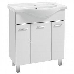 Koupelnová skříňka s umyvadlem 3D v bílém lesku 70 cm F1297