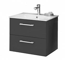 Koupelnová skříňka s umyvadlem v grafit lesku 79 cm F1250