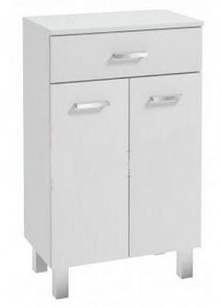 Koupelnová skříňka z lamina v provedení bílý lesk 2D1S 50 cm F1297