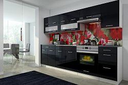 Kuchyňská linka 260 cm černý lesk F3015
