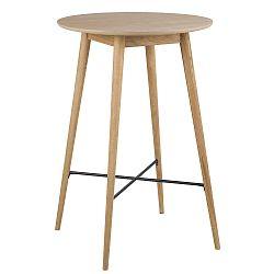 Kulatý barový stůl 70 cm v dekoru dub DO190