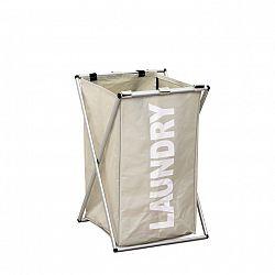 Látkový koš na prádlo světlý LAUNDRY TYP 1