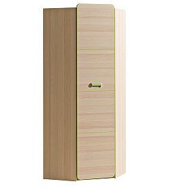 LIMO L14 šatní rohová skříň zelená