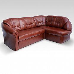 Luxusní kožená sedací souprava v pravém provedení hnědé a červené barvy TK143