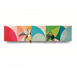 Magnetický dřevěný věšák na klíče mix barev DO102