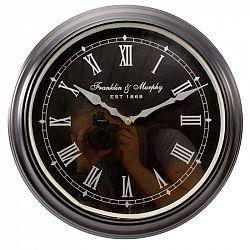 Nástěnné hodiny Franklin, 36 cm černá