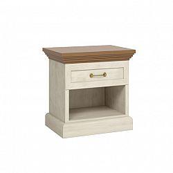 Noční stolek klasický nordická bílá borovice ROYAL SN