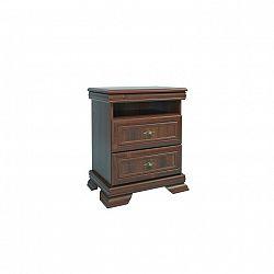 Noční stolek v elegantním rustikálním stylu hnědá KORA