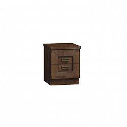 Noční stolek v jednoduchém rustikálním provedení hnědá TEDY TYP T16