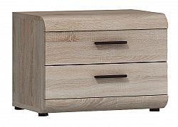 Noční stolek v moderním dekoru dub sonoma KN172