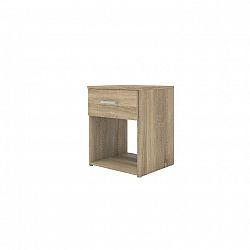 Noční stolek v moderním dubovém dekoru GARBO