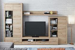 Obývací stěna v moderním dekoru dub sanremo KN530