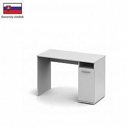 PC stůl v jednoduchém moderním provedení bílá Singa 21