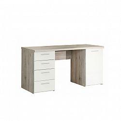 PC stůl v jednoduchém moderním provedení bílá VALERIA