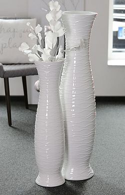 Podlahová váza Imperial, 103 cm, bílá