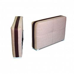 Područka šíře 17 cm, sedačka světle hnědé barvy s čokoládovou ekokůží ROSANA