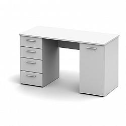 Praktický PC stůl v jednoduchém moderním bílém provedení EUSTACH