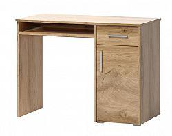 Psací stůl v jednoduchém designu v dekoru dub wotan 1d1s F1461