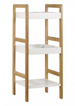 Regál, lakovaný bambus + MDF DR-013-3