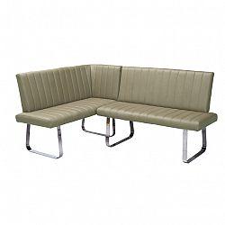 Rohová lavice, šedohnědá taupe, pravá, Emori SET