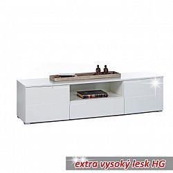RTV stolek extra vysoký lesk ve stylovém designu bílá SPICE RTV