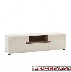 RTV stolek v luxusní bílé barvě ve vysokém lesku  TK026 TYP 50