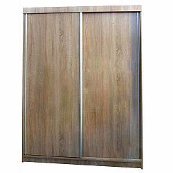Šatní skříň F027 dub sonoma s posuvnými dveřmi