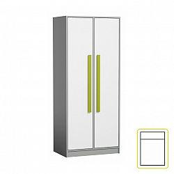 Šatní skříň zelené úchytky PIERE P01