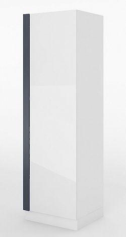 Skříň v bílém lesku v levém provedení typ 01L KN346