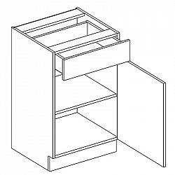 Skříňka dolní 50cm JUSTÝNA lak D50 S/1 pravá